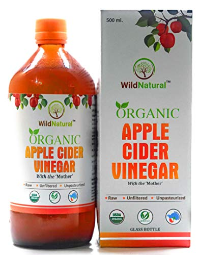 WildNatural Organic Raw Unfiltered Unpasteurized Apple Cider Vinegar with Mother Vinegar