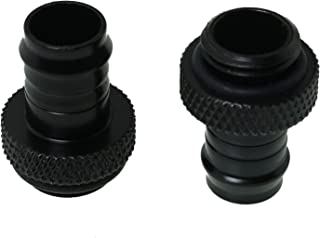 WELWIK Tube Connector 2PCS G1/4 Inch to 3/8 Inch Barb Fitting for PC Water Cooling System Soft Tubing Black