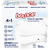 Bounce Free & Gentle Unscented Dryer Sheets, 320...