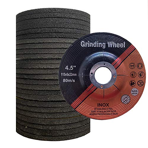 Grinding Wheel for Grinders,Grinding Wheel for Metal ,Aggressive Grinding for Metal (25 Pack, 4.5 Inch,1/4