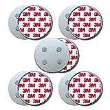 HaftPlus - [5 Stück] Rauchmelder-Magnethalter Ø 70mm, mit 4 extra starken Neodym-Magneten,...