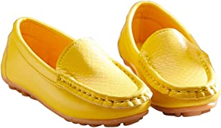 Yangguang Boys Loafers in Yellow Colour