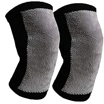 Women Men Winter Knee Warmers Knee Brace Sleeve Leg Warmer Wool Cashmere Thicken Knee Supports Knee Pads Legging Stocking Warm Thermal Ski Cycling Knee Brace Sleeve for Joint Pain Arthritis 1 Pair