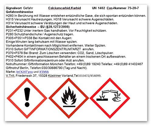 bri'X24T'you® Karbid 0.500KG+Handschuhe(1x) Premium KARBID (1A.Ql.Rg.187319)*Alt Bewährt und sehr Ergiebig (0.500KG) - 9