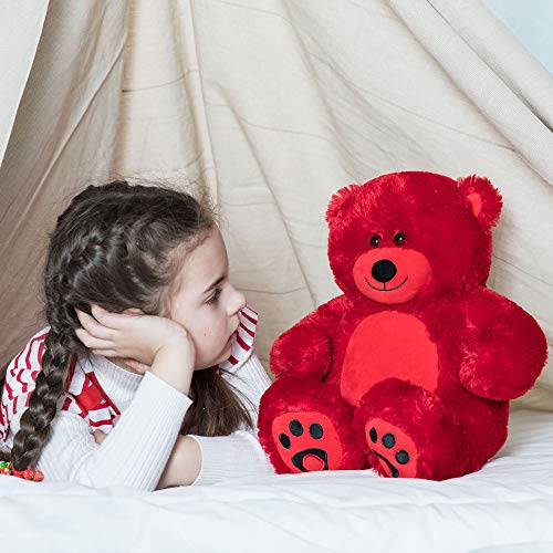 VERCART Giant Huge Cuddly Stuffed Animals Plush Teddy Bear Toy Doll for Birthday Children's Day Valentine's Day (10 inch, Red)