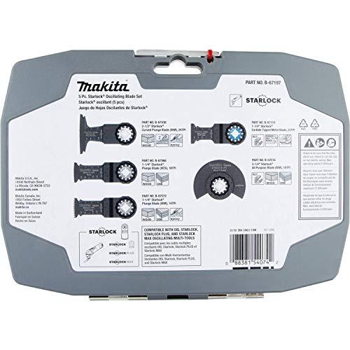 Makita B-67197 5 Pc. Starlock Oscillating Blade Set