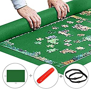 """Puzzle Mat Roll up Jigsaw Puzzle Pad Puzzle Storage Felt Mat Puzzles Saver (35.6"""" x 24.1"""") - Fits up to 1000 Pieces by Manufacturer"""