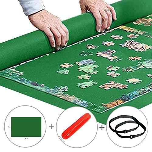 Puzzle Mat Roll up Jigsaw Puzzle Pad Puzzle Storage Felt Mat Puzzles Saver (35.6