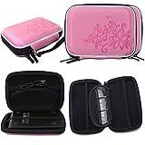 ELEGIANT Abrasión de disco duro portátil Drive Cremallera cubierta del bolso de la caja a prueba de golpes resistente a los arañazos Resistente flor 2.5 ''HDD Bolsa rosa