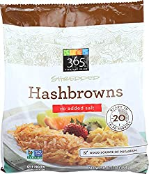 365 Everyday Value, Shredded Hashbrowns No Salt Added, 16 oz, (Frozen)