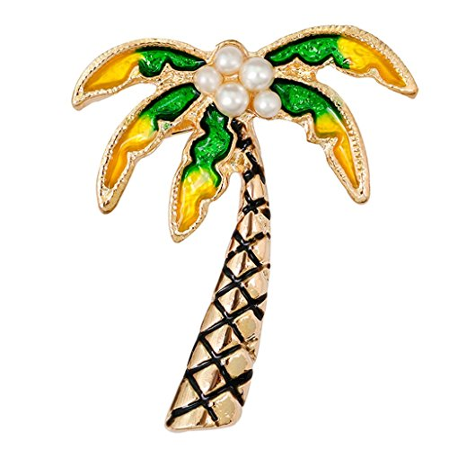 SONGAI Tropical Tree Lapel Pin Palm Brooch Collar Corsage Crystal Clothing Accessories - Fashionable Brooch Pin for Party Bracelets Earrings Rings Necklaces