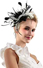 black and white fascinators for hair