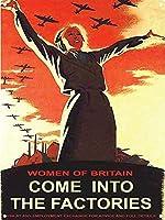 ブリキの看板が工場にやってくるイギリスの女性ヴィンテージ鉄の絵金属板ノベルティ装飾クラブカフェバー