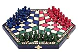 3 Tres Jugadores Juego De Ajedrez - PEQUEÑO - 3 color - REGLAS INCLUIDO