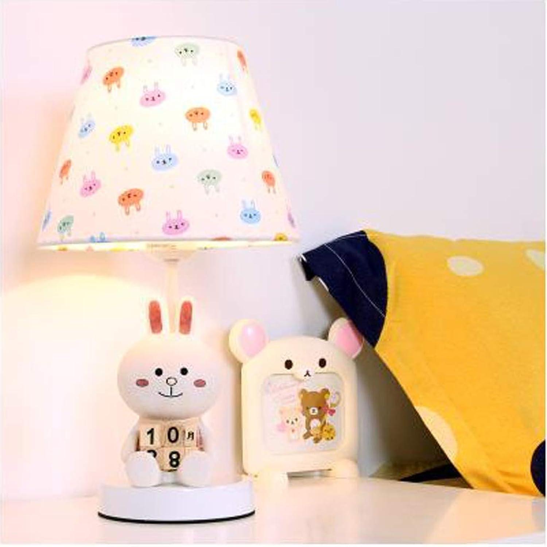 WZJ-TISCHLEUCHTE Schne Schlafzimmer nachttischlampe warm warm licht Junge mdchen Cartoon Tier Kinder schreibtischlampe (Farbe   B, Gre   38.5x22cm)