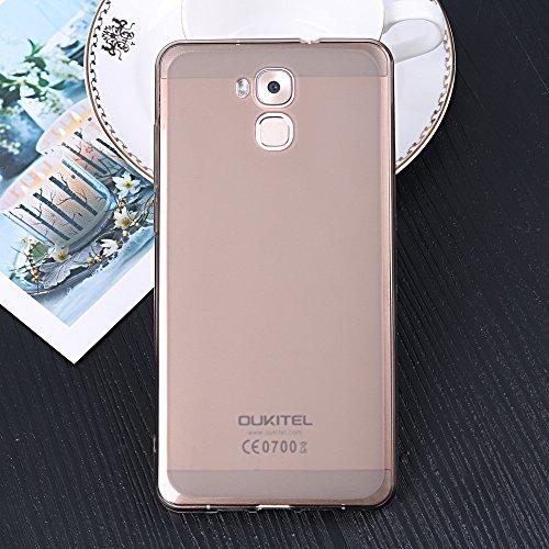 Easbuy Handy Hülle Soft Silikon Case Etui Tasche für Oukitel U16 Max Smartphone Cover Handytasche Handyhülle Schutzhülle