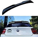 Negro Brillante Abs De AleróN Labios Maletero Trasero Coche Para BMW 1 Series F20 Hatchback Spoiler 120i 125i1 18im 135i 116i 2012-2018,Accesorios CarroceríA Estilo Coche