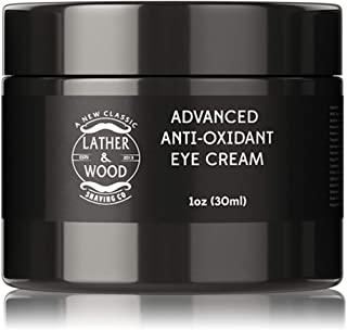Advanced Anti-Oxidant Eye Cream For Men - Under Eye Treatment with Matrixyl 3000, Hyaluronic Acid Vitamins C, B5, E - Rebuff Fine Lines, Wrinkles, and Puffiness Around the Eyes. 1 oz