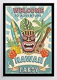 Vintage Hawaii Welcome Kunstdruck Poster -ungerahmt- Bild