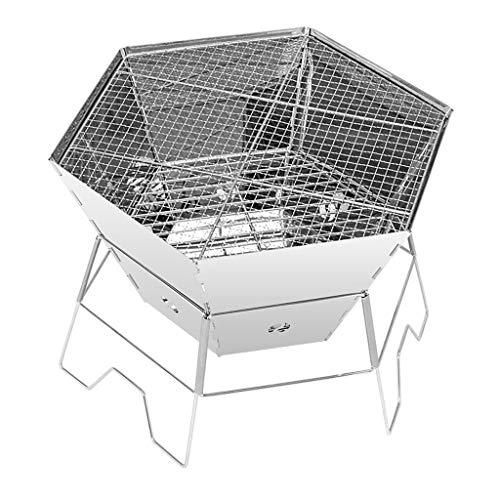 Conception portable Barbecue Accueil Cuisine pique-nique pique-nique qualité épais en acier inoxydable charbon multi-personne Barbecue avec portable sauvage pique-nique pliante étagère Stable et durab