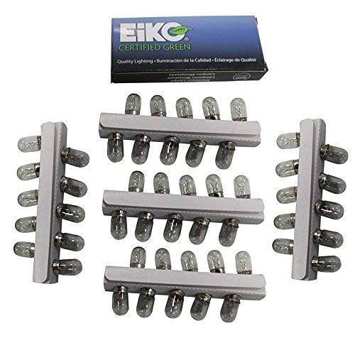 Eiko Pinball Light Bulb Lamps 6.3V - Set of 50