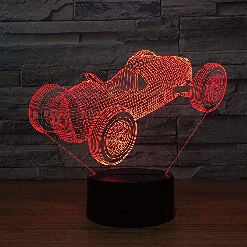 Luz Nocturna 3D Old Racing Luz Nocturna Usb 7 Que Cambia De Color Luz De Atmósfera 3D Luz Visual Nocturna Iluminación Interior Goteo Transporte-Interruptor Táctil
