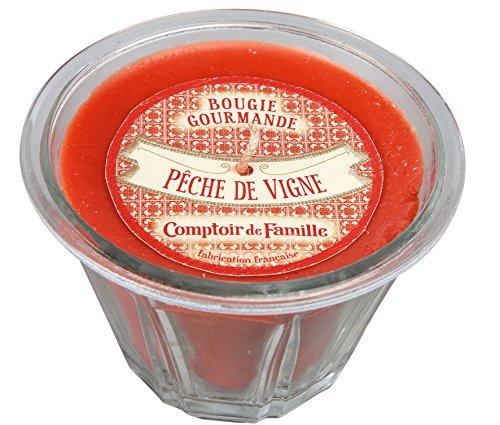 Comptoir de Famille 122640 Pêche de Vigne, Verre, Rouge, 35x24x9 cm