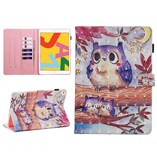 Vogu'SaNa Compatible for Tablet Case iPad 10.2 2019 PU Leather Case Protective Cover 3D Pattern Flip Cover Sleep Wake Cover Stand Compartments Magnetic Cover Shell Sleeves