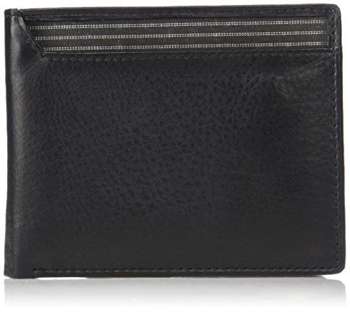 Buxton Men's Houston RFID Blocking Convertible Thinfold Slim Wallet, Black, One Size