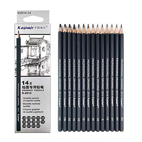 14/pz//set 6H/ /12B Professional Artist Art schizzo a matita Craft Tool