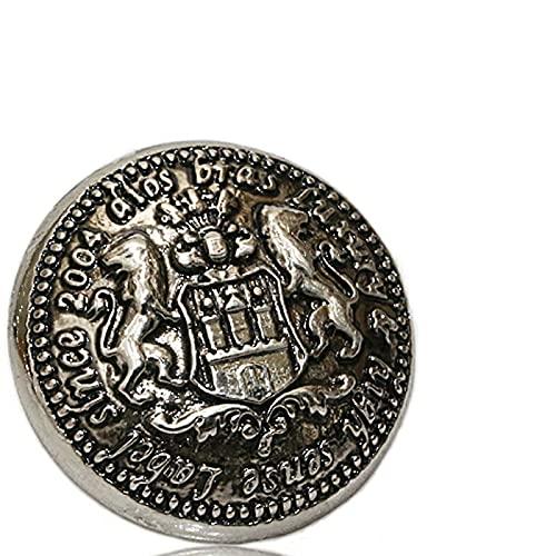 コンチョ ジャーマンコイン ライオン イーグル コインコンチョ オリジナルコイン ネイティブ コイン インディアン 亜鉛合金コンチョ ナバホ ネジ式 ピューター製