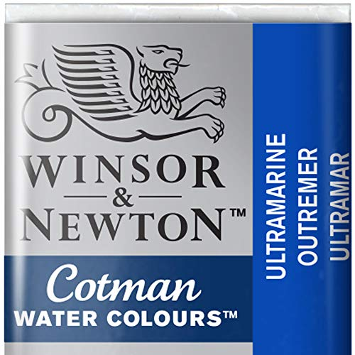 Winsor & Newton Cotman Acuarela En Pastilla, Ultramar, 1,9x1,6x1,1 cm