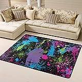 Comfortable Area Rugs Splatter Paint Carpet Fluffy 60x48 Home Indoor Floor Mat/Rug