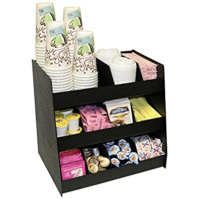 """11 Compartments for Coffee Condiments with 8""""Extra Tall"""" Removable Dividers. 16"""" Wide x 12""""D x 15""""H. Made in The USA by PPM."""