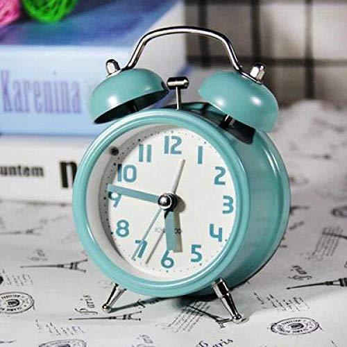 FPRW retro-wekker met dubbele bel enkelvoudig, Japanse cartoon-horloge, dier-klok, creatief schrijven, Muto, nachtkastje voor kinderen, 3 inch groen