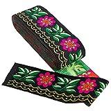 GORGECRAFT 1 paquete de cinta jacquard bordada floral...