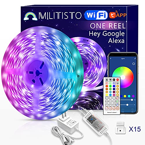 Militisto Alexa Led Strip Lights 32.8ft, Smart WiFi Rope Light Works with Alexa, Google Home, Music Sync Color Changing...