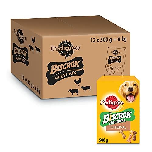 Pedigree Biscrok Multi Mix Snack per Cane, Confezione da 12 x 500 g