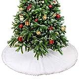 THE TWIDDLERS 90cm Gonna per Albero di Natale in Peluche Bianca, Copri Base Albero Natale,...