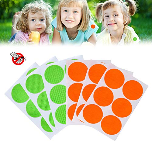 Mroobest Mosquito Repellent Stickers, Ingredienti Naturali repellenti per Insetti Adatti a Bambini e Adulti, Protezione Efficace per 12-24 Ore (60pc)