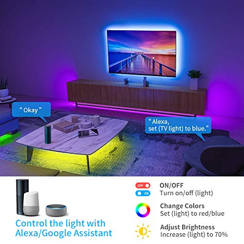 Govee Smart RGB Led Strip Lights, 16.4 Feet, Works with Alexa, for Home, Party, Kitchen 6