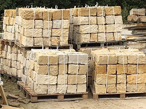 Sandstein Mauersteine ca. 15x20x40 cm, allseitig gespalten, 50 St. auf Palette