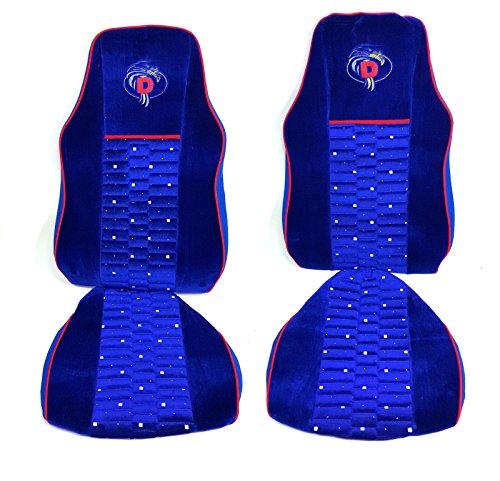 flexzon Fundas de asiento de terciopelo suave de alta calidad, color azul