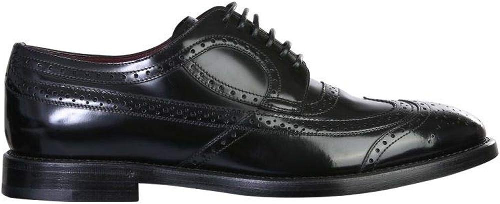 Dolce & gabbana, scarpa classica per uomo, in vera pelle, stringata, A20137A120380999