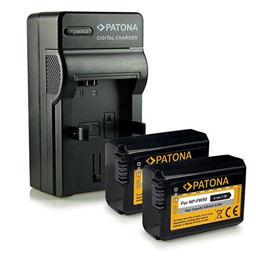 M&L Mobiles® | Novedad - 4in1 Cargador + 2x Batería como FW50 FW-50 con Infochip · 100% compatible con Sony NEX-5 | NEX-5A | NEX-5D | NEX-5H | NEX-5K | NEX-5N | NEX-3 | NEX-3A | NEX-3D | NEX-3K | NEX-6 | NEX-7 | NEX-C3 | NEX-F3 - Sony SLT-A33 ( ?33 | alpha 33 ) | SLT-A35 ( ?35 | alpha 35 ) | SLT-A37 ( ?37 | alpha 37 ) | SLT-A55 ( ?55 | alpha 55 ) | SLT-A55V ( ?55V | alpha 55V )