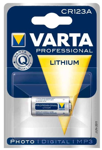 Varta Professional Lithium CR123 A Photo Batterie 3 V 1600 mAh