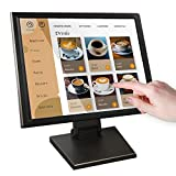 17-inch HDMI Resistive Touch Screen POS LED Monitor with VGA and HDMI Port and Cable, for Office, Retail, Restaurant, Bar, Gym, Warehouse