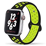 YC YANCH Greatou Compatible for Apple Watch Band 38mm 40mm,Soft Silicone Sport...