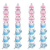 robinlu Gastgeschenke Taufe Baby Süßigkeit Flaschen, 24 Stück Candy Befüllbare Flasche Box Dusche Begünstigt Süßigkeiten Schachtel Bär Dekoriert Feeder für Baby Shower Party(12pcs Blau+12pcs Rosa)