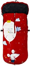 Saco de Silla de Paseo UNIVERSAL-INVIERNO-IMPERMEABLE (ratita rojo)